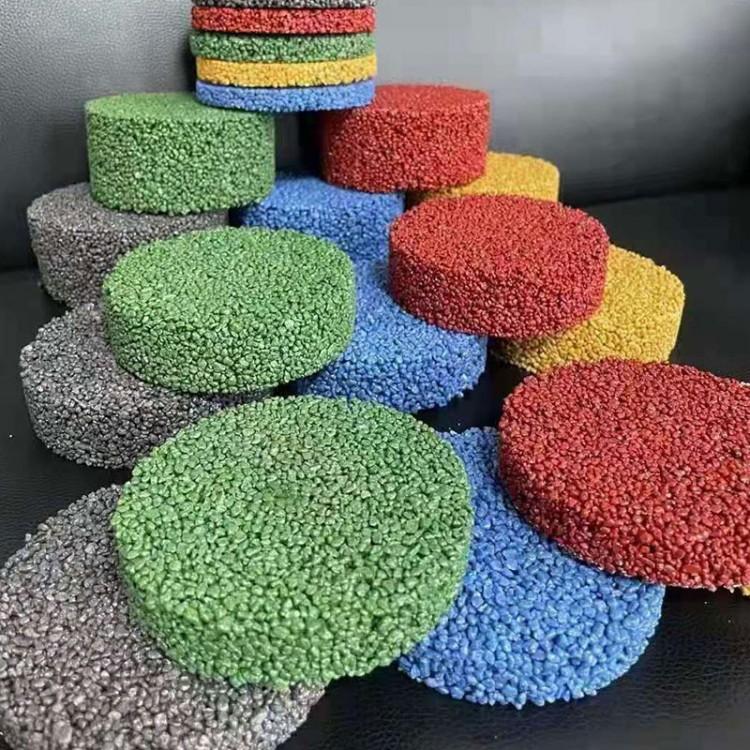 烁之坤铺设陶瓷颗粒防滑路面 彩色陶瓷颗粒